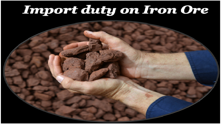 Government rises import duty on iron ore